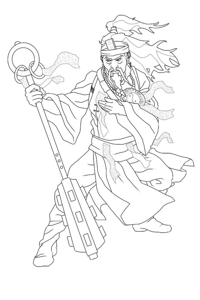 Taoist Priest  by Peter Frain